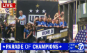 Avalanche Players on Parade Float